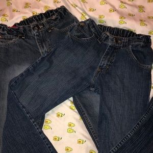 Lot of 2 Wrangler Boys Jeans sz 14s
